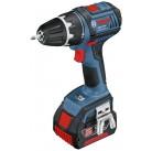 Акк. шуруповерт Li-Ion Bosch GSR 18 V-LI, скор.вр.- 0-500/0-1700 сталь\дерево-13/32, крут