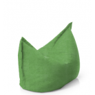 Подушка зеленая замша