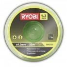 Леска для триммера 1.3 мм, 25 м, зеленая