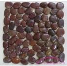 Галька нефритовая NS007 (красная), 3-5 см,  1 кг.