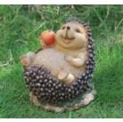 Садовая фигурка Ежик с яблоком BJ112029(5)  GS