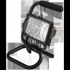 Прожектор галогеновый СВЕТОЗАР переносной с подставкой, цвет черный, 150Вт
