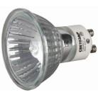 Лампа галогенная СВЕТОЗАР с защитным стеклом, алюм. отражатель, цоколь GU10, диаметр 51мм, 75Вт, 220