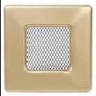 Решетка вентиляционная золотистая Dospel 11х11; 11х17; 11х24