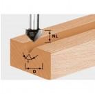 Фреза для выборки V- образн. паза HW с хв. 8 мм HW S8 D14/7/90°