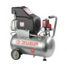 Компрессор ЗУБР электрический, масляный, 1600 Вт, 210 л/мин, 2850об/мин,  8 бар, 24 л