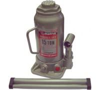Домкрат гидравлический бутылочный, 15 т, h подъема 230–460 мм MATRIX  50729