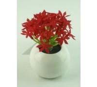 Искусственный цветок Суккуленты красные (12370)