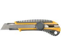 """Нож STAYER """"MASTER"""" с выдвижным сегмент. лезвием, пластмассовый, 18мм"""