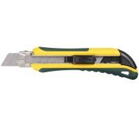 """Нож KRAFTOOL """"EXPERT"""" с сегмент. лезвием, 2-х комп., усилен, автофиксация, кассета с 6 лезвиями, доп"""