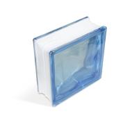 """Стеклоблок """"Cloudy"""", голубой, 190х190х80мм, JH011 (24104009)"""