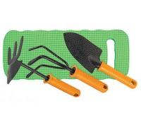 Набор садовый: рыхлит, мотыжк. комб, совок широк, коврик PALISAD 62905