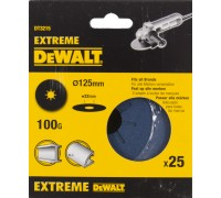 DeWalt, DT3215, Шлифкруги на фибровой основе EXTREME DEWALT® для УШМ, 125 мм, 100G, 25 штук