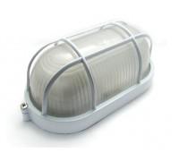 Светильник уличный СВЕТОЗАР влагозащищенный с решеткой, овал, цвет белый, 60Вт