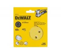 DeWalt, DT3112, Шлифкруги для эксцентриковых шлифмашин быстрозаменяемый на бумажной основе, 125 мм,
