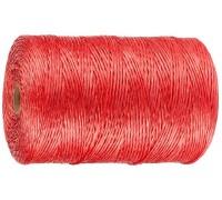 Шпагат ЗУБР многоцелевой полипропиленовый, красный, 1200текс, 110м