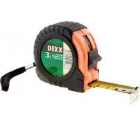 Рулетка DEXX, обрезиненный пластиковый корпус, 3мх18мм