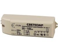 Трансформатор СВЕТОЗАР электронный для галогенных ламп напряжением 12В, вход/выход с одной стороны,