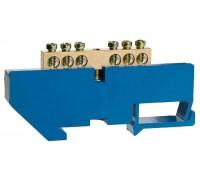 Шина СВЕТОЗАР нулевая на DIN-изоляторе, макс. ток 100А, 5,2мм, 6 полюсов
