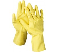 Перчатки DEXX латексные, х/б напыление, рифлёные, S