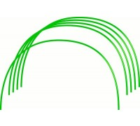 Парниковые Дуги в ПВХ 0,75х0,9м 6 шт. диаметр трубы 10мм 64407
