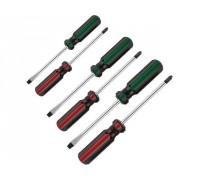 Набор DEXX: Отвертки, закал сталь, маслобензост рукоятка, SL: 3x75, 5x100, 6x100, PH: 0x75, 1x100, 2