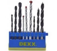 Набор DEXX: Сверла комбинированные, по металлу d=4-6-8мм, по дереву d= 4-6-8мм, по кирпичу d=4-6-8мм