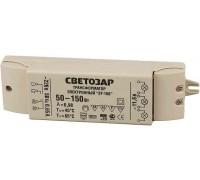 Трансформатор СВЕТОЗАР электронный для галогенных ламп напряжением 12В, 2 входа/3 выхода с двух сторон