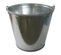 Ведро нерж. 0,72 л., глубина - 12 см., диаметр - 15 см.  5562 Worth