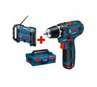 Радио Bosch GML 10,8 V-LI + GSR 10,8-2-LI 0601429201