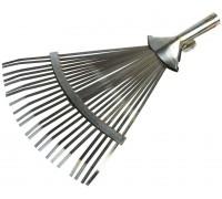 Грабли GRINDA веерные регулируемые, 22 плоских зубца, 320 -420 мм