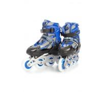 Коньки роликовые детские раздвижные, размер L (синие) DE 0099
