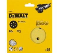 DeWalt, DT3133, Шлифкруги для эксцентриковых шлифмашин быстрозаменяемый на бумажной основе, 150 мм,