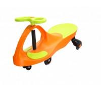 Машинка детская, «БИБИКАР»  с  полиуретановыми колесами, салатово-оранжевая DE 0058