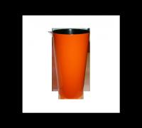 Кашпо Лилия 190мм, оранжевый