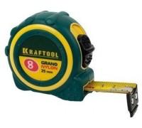 """Рулетка KRAFTOOL """"EXPERT"""" """"GRAND"""", двухкомпонентный корпус, двусторонняя шкала, нейлоновое покрытие,(08)"""