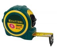 """Рулетка KRAFTOOL """"EXPERT"""" """"GRAND"""", двухкомпонентный корпус, двусторонняя шкала, нейлоновое покрытие,(05)"""