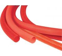Кожух гофрированный красный 25мм