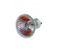 Лампа галогенная СВЕТОЗАР с защитным стеклом, алюм. отражатель, цоколь GU10, диаметр 51мм, 50Вт, 220