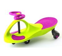 Машинка детская, «БИБИКАР» с  полиуретановыми колесами, салатово-фиолетовая DE 0057