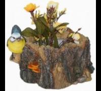 Горшок Птичка на маленьком пне HP091135