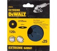 DeWalt, DT3216, Шлифкруги на фибровой основе EXTREME DEWALT® для УШМ, 125 мм, 120G, 25 штук
