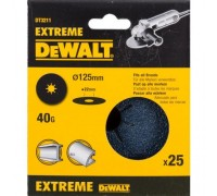 DeWalt, DT3211, Шлифкруги на фибровой основе EXTREME DEWALT® для УШМ, 125 мм, 40G, 25 штук