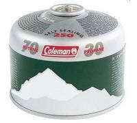 Картридж газовый Coleman C250 (резьбавого типа, вес 220г.,30%пропан+70%бутан, работает до -25 градус