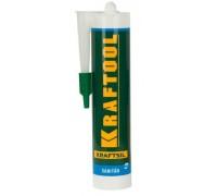 Герметик силиконовый KRAFTOOL прозрачный, санитарный, для помещений с повышенной влажностью, 300мл G