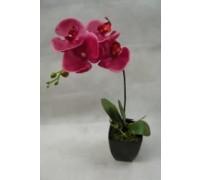 Искусственный цветок Орхидея красная (30487)