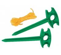 Набор - разметочные колышки 2 шт, разметочный шнур 5,5 м  PALISAD 64486