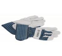 Защитные перчатки с вставками из бычьей кожи GL  SL 11, 10 пар