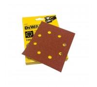 DeWalt, DT3011, Шлифлисты для виброшлифмашин на бумажной основе, перфорированные, дерево/ краска, 11