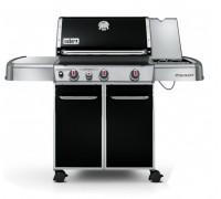 Гриль газовый Genesis E-330, черный, 3 горелки, боковая конфорка и дополнительная горелка Sear Stati